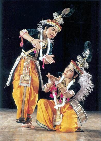 Manipuri dance movements combine lyrical grace with vigorous athleticism, often accompanied by intricate and rousing drumming.