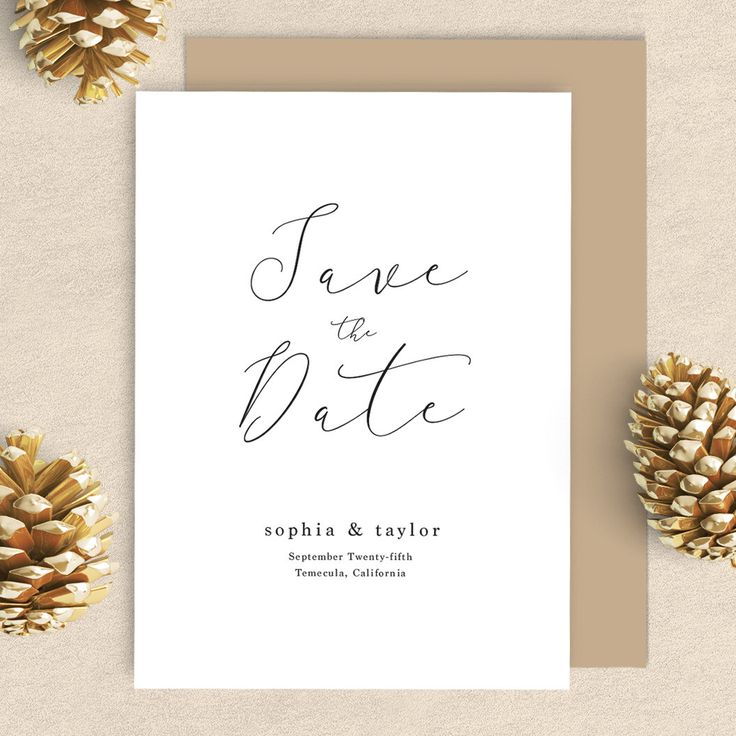 Simple Rustic Save the Date, Calligraphy Save the Date, Simple Save the Date, Rustic Save the Date, Minimalist Save the date, Simple Script by OrangeValentine on Etsy https://www.etsy.com/listing/472495869/simple-rustic-save-the-date-calligraphy