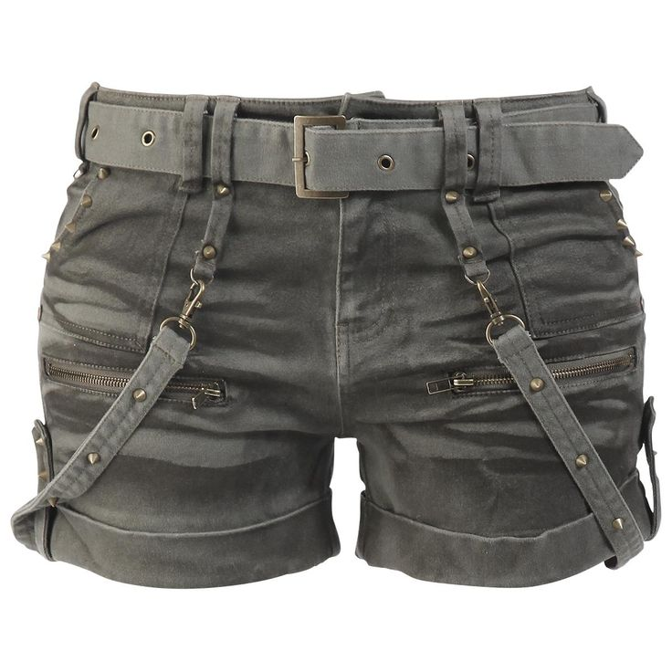 Studded Hot Pants - Girls hotpants by EMP Black Premium - Article Number: 264710 - from 59.99 € - EMP Merchandising ::: The Heavy Metal Mail...