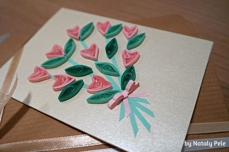Quilling card by Nataly Pele