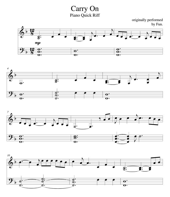 some nights piano sheet music pdf free