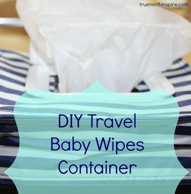 I like buying the baby wipes in bulk, right now you can get them $0.02 a sheet on Amazon. With them being so cheap you can't always get them travel friendly. You can make your own travel baby wipes container by upcycling the stuff you already have in your house #baby #DIY #frugal