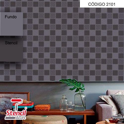 Xadrez – Stencil Decorativo (molde para pintura) – Stencil Decor