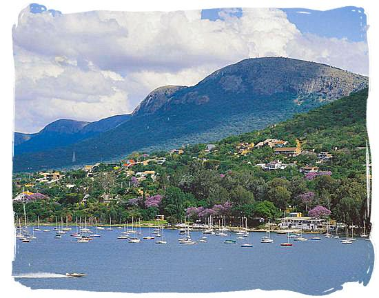 Hartbeespoort Dam, a lake of great scenic beauty is situated west of Pretoria