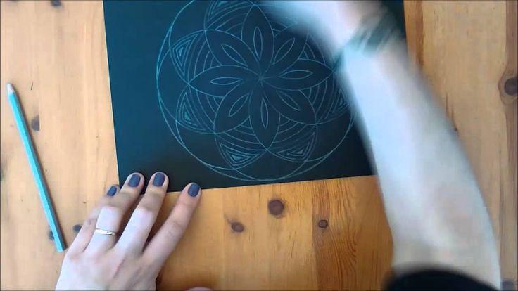 Mandala 7 - Cor em fundo negro