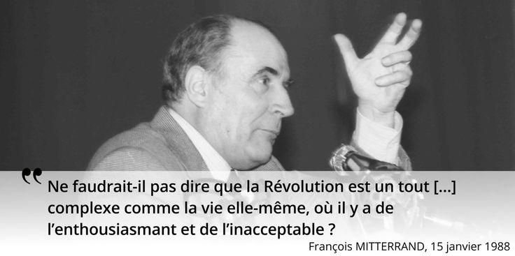 François #Mitterrand s'invite au débat de la #commemoration du bicentenaire de #1789 #histoire de #France en #citations
