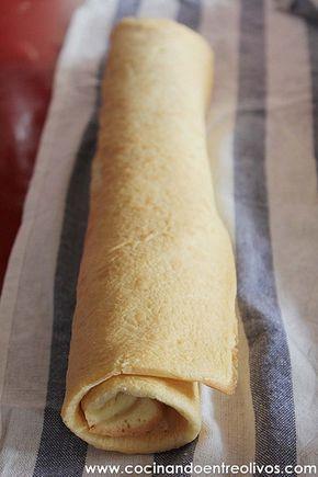 Tronco de Navidad relleno de crema de turron www.cocinandoentreolivos (13)