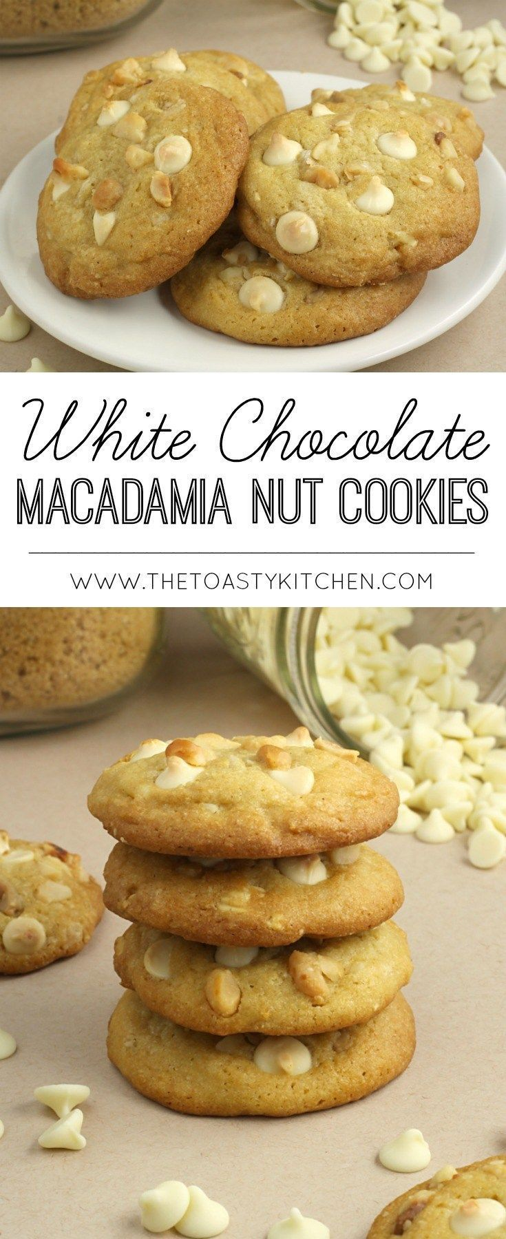 White Chocolate Macadamia Nut Cookies | Posted By: DebbieNet.com