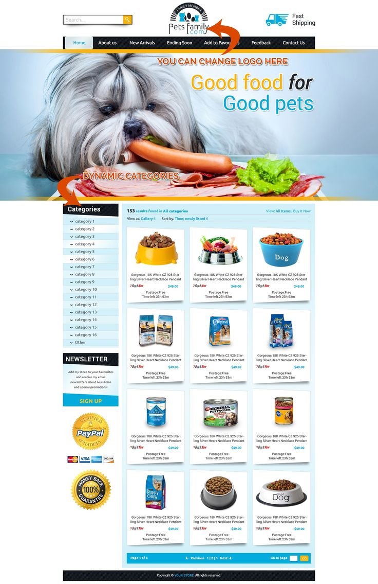 20 best Animal & Pet Theme Professional eBay Store & Auction ...