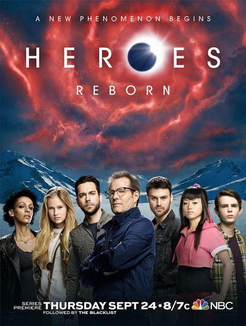 Heroes Reborn Official Poster.....I am curious to see how this show goes....