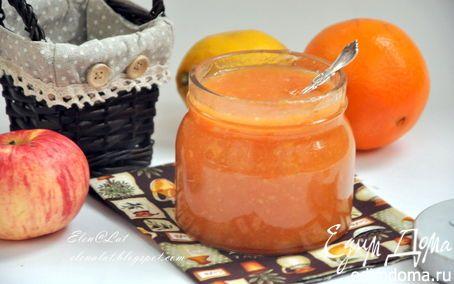 Яблочное повидло с апельсинами и лимоном в мультиварке | Кулинарные рецепты от «Едим дома!»