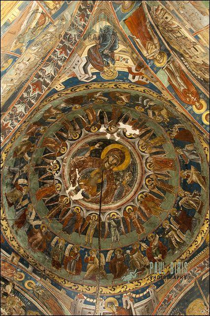 Ceiling of The Humor Monastery, Bukovina, Romania