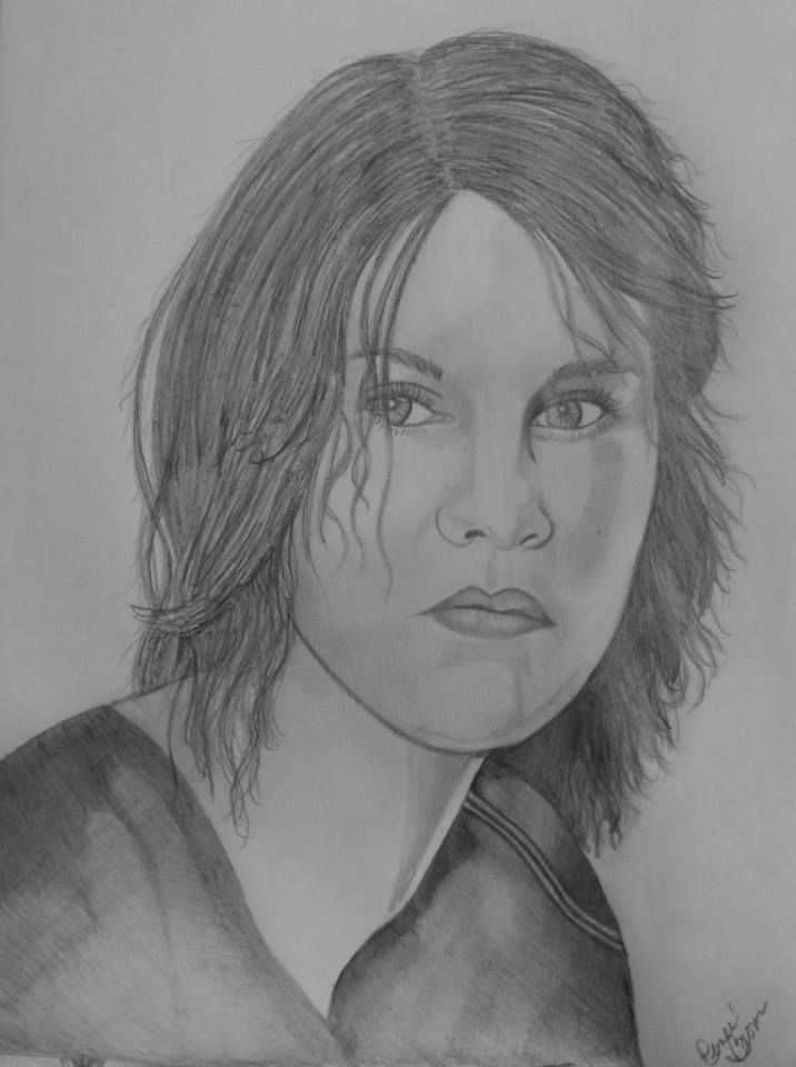 The walking dead maggie graphitepencil drawingsthe walking deadgraffiti drawings in pencilpencil artgraphite drawings