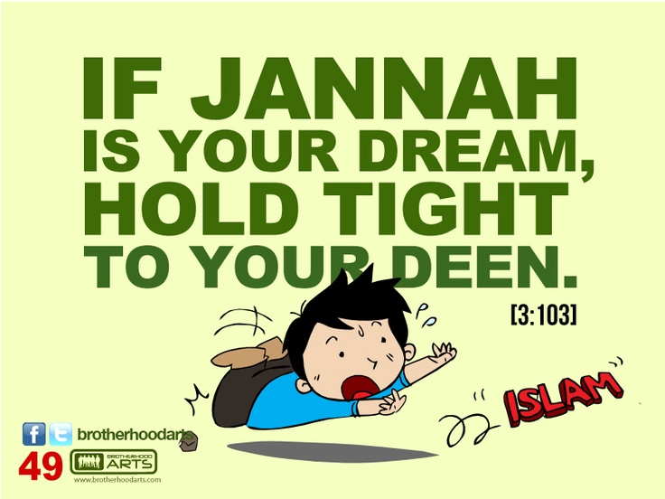 "#049 Ahmad Says: ""If Jannah is your dream, hold tight to your deen."""