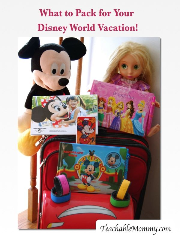 What to Pack for Your Disney World Vacation! - Teachable Mommy, Disney world vacation, Disney packing list
