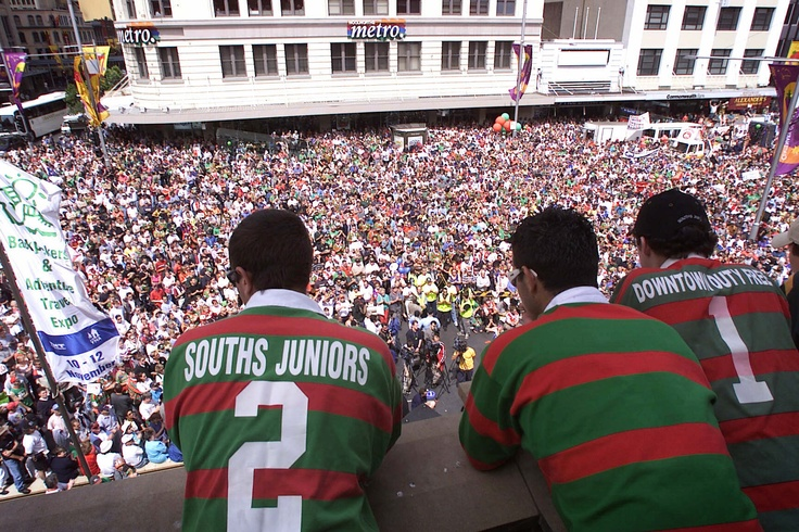 Rabbitohs Fans march for reinstatement.