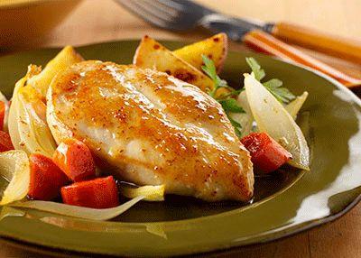 Φιλέτο κοτόπουλο με πορτοκάλι μέλι και μουστάρδα