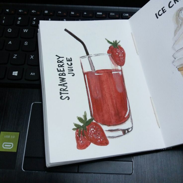 STRAWBERRY JUICE - WATERCOLOR ON CANSON SKETCHBOOK BY LUTHFIAHRA