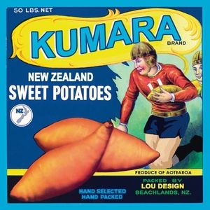 Kumara Rugby Art Deco kiwiana print by Lou Design Matt finished image mounted on 0.3cm thick MDF wood boardHanger mounted on backImage digitally designed by myself then mounted on to mdf board. All pieces produced and designed by myself and make great presents, especially for those who live out side of New Zealand. Made in New Zealand