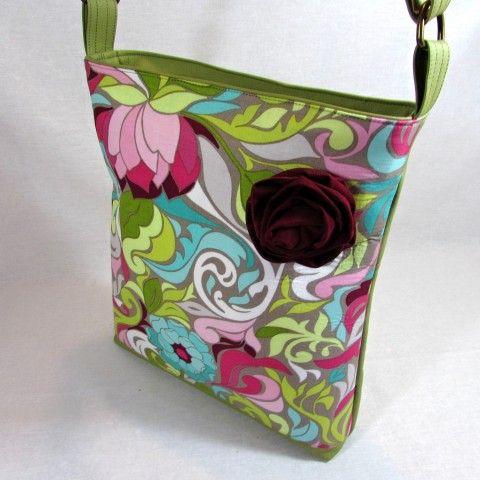 kabelka--Halle Rose kabelka dárek zelená taška letní růže  jaro barevná jemná luxusní romantická pro ženu.dívčí www.simira.cz 749,-Kč