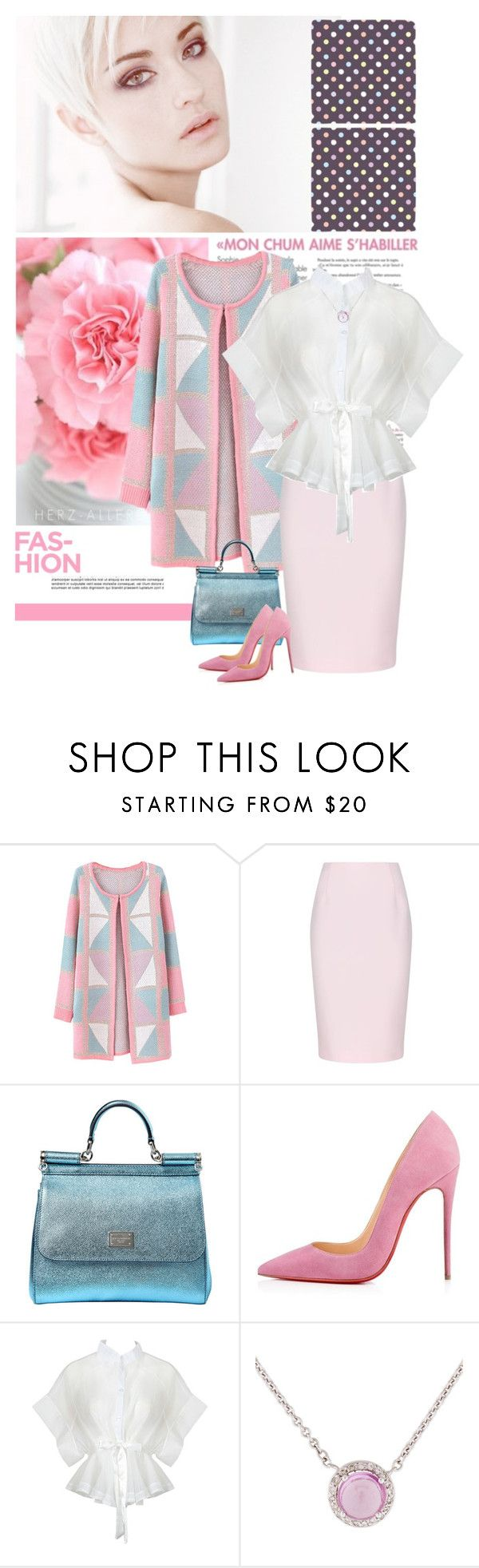 """""""Fashion Pink"""" by mcheffer ❤ liked on Polyvore featuring Chicnova Fashion, Finders Keepers, Dolce&Gabbana, women's clothing, women's fashion, women, female, woman, misses and juniors"""