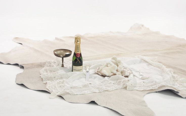 Premium Natural Cowhide - Champagne