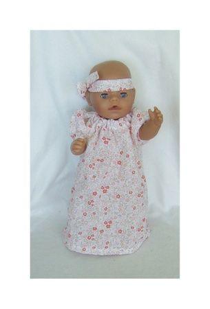 Nattkjole til dukken 40-43 cm