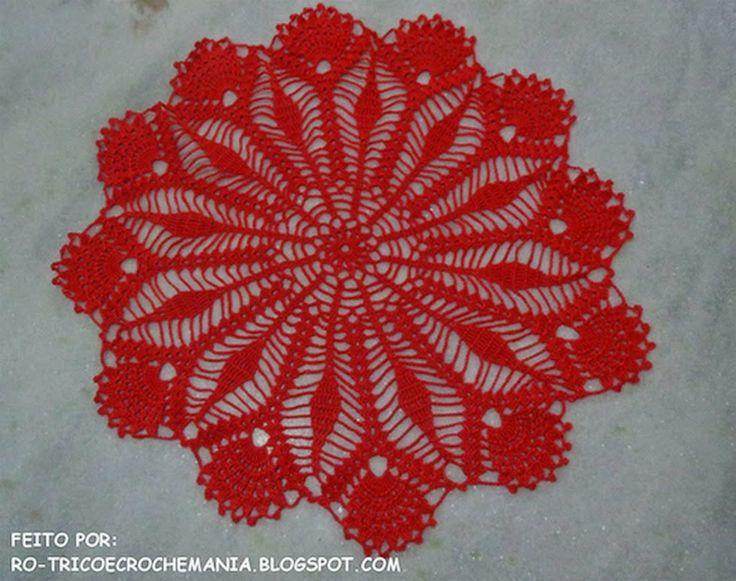 Toalhinha centrinho de mesa em crochê - =(^.^)=Rô Tricô e Crochê Mania=(^.^)=