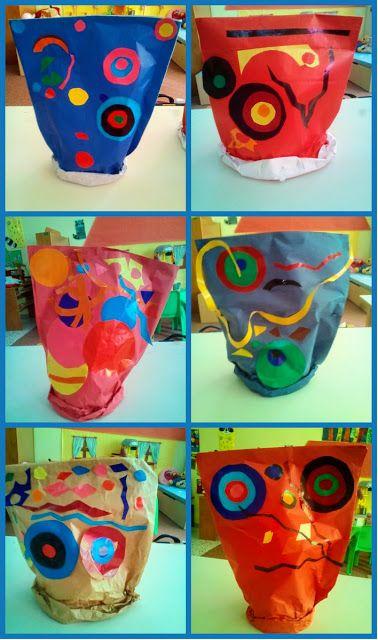 παιχνιδοκαμώματα στου νηπ/γειου τα δρώμενα: αποκριάτικα καπέλα αλά..... Joan Miro!!!