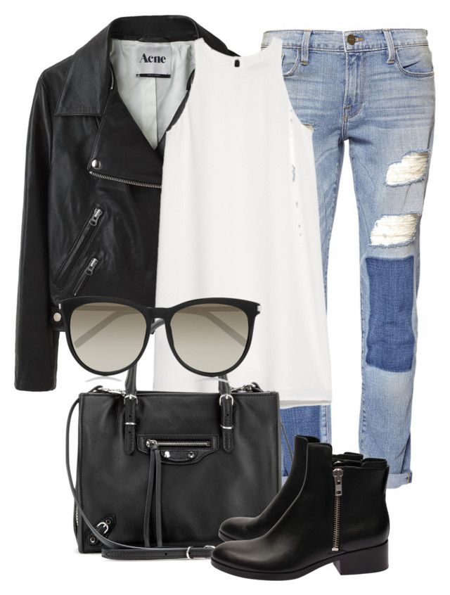 """Untitled #2159"" by rosyfilm ❤ liked on Polyvore featuring moda, Frame Denim, Acne Studios, MANGO, Balenciaga, 3.1 Phillip Lim y Yves Saint Laurent"