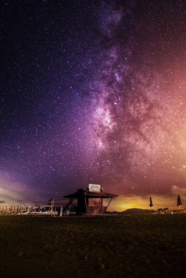 """The Milky Way over the Fuerteventura Island"" by Wojciech Toman, via 500px."