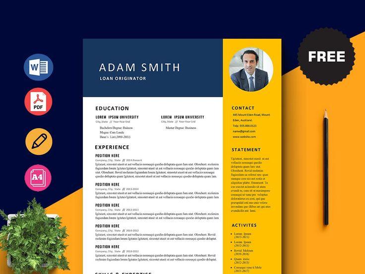Free Loan Originator Resume Template in 2020 Resume