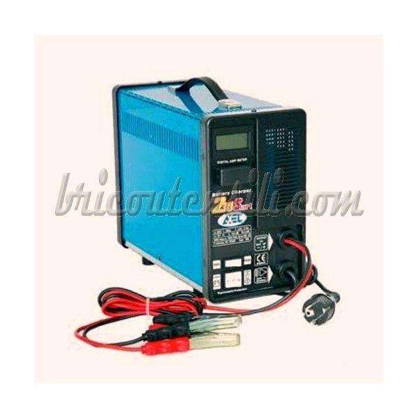 Caricabatteria Axel Start 230 - 26 A - 12 V Carica normale 26 A - 12 V con avviamento, carica di avviamento 150 A, amperometro con display digitale, regolazione di corrente