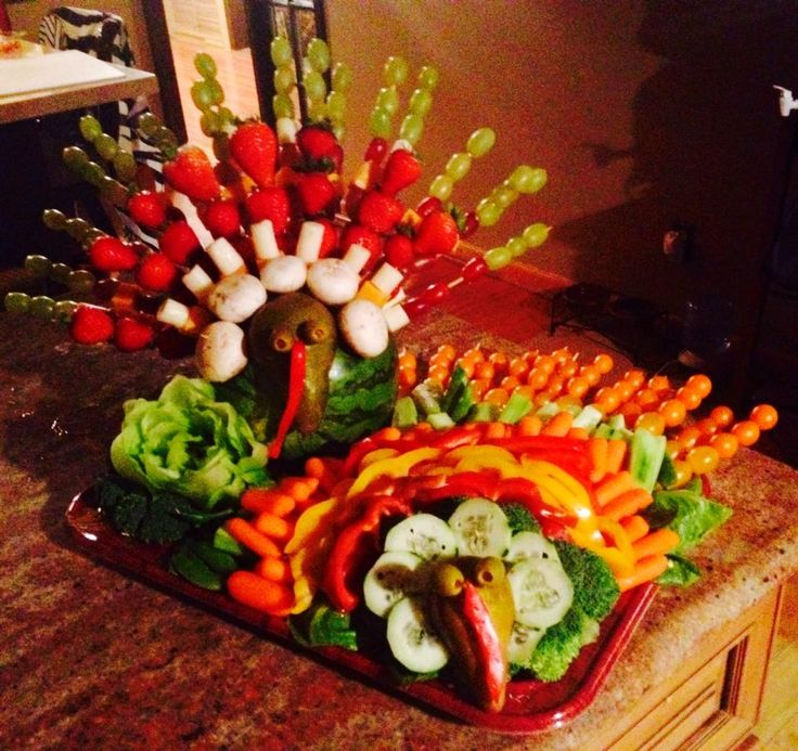 Thanksgiving Fruit And Veggie Platter My Creations