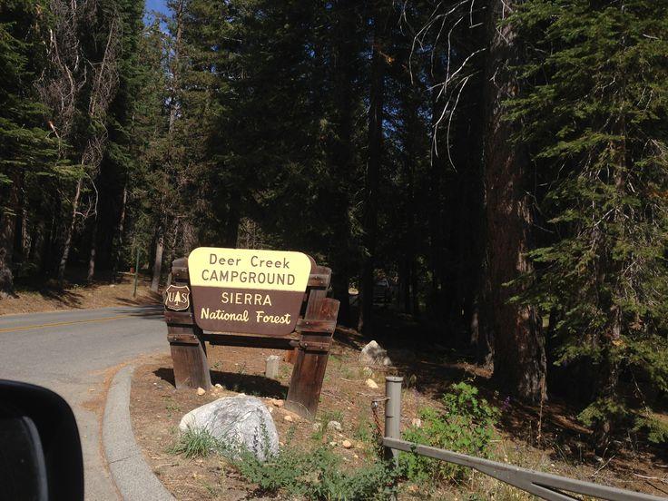 Deer Creek Campground at Huntington Lake, Lakeshore, CA - Sierra National Forest
