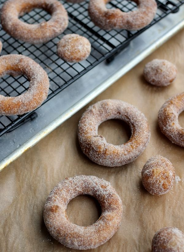 puff pastry donuts with cinnamon sugar and bourbon glaze