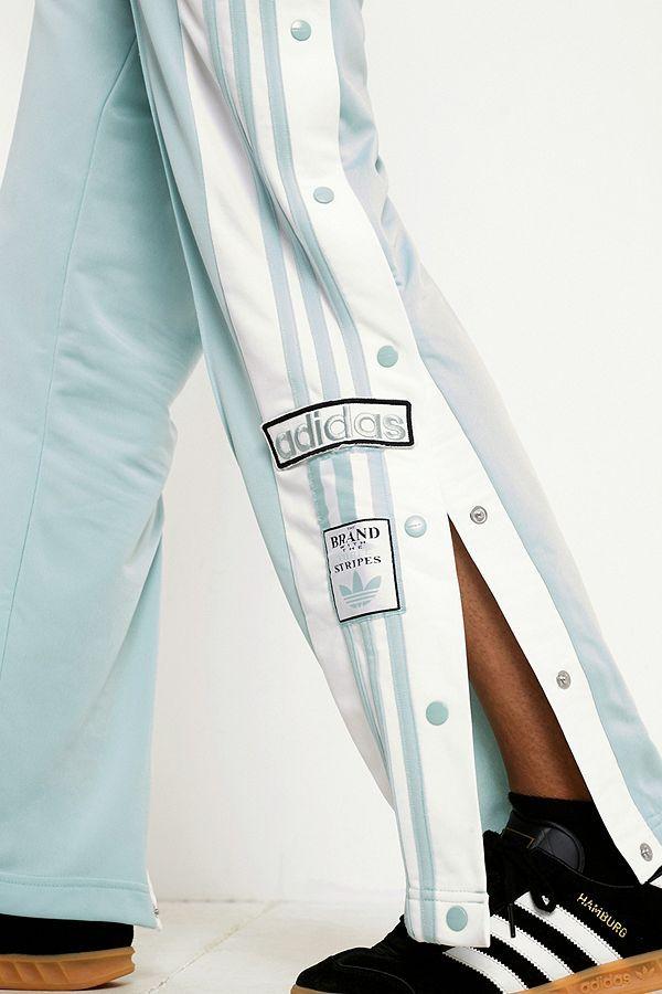 f7990ef16595 Slide View  5  adidas Originals Adibreak Mint 3-Stripe Black Taped Popper  Track Pants