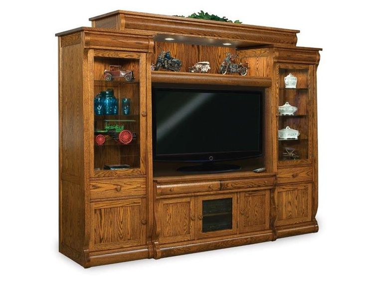 Amish Vienna Six Piece Entertainment Center Wall Unit The Vienna is custom made furniture for family.