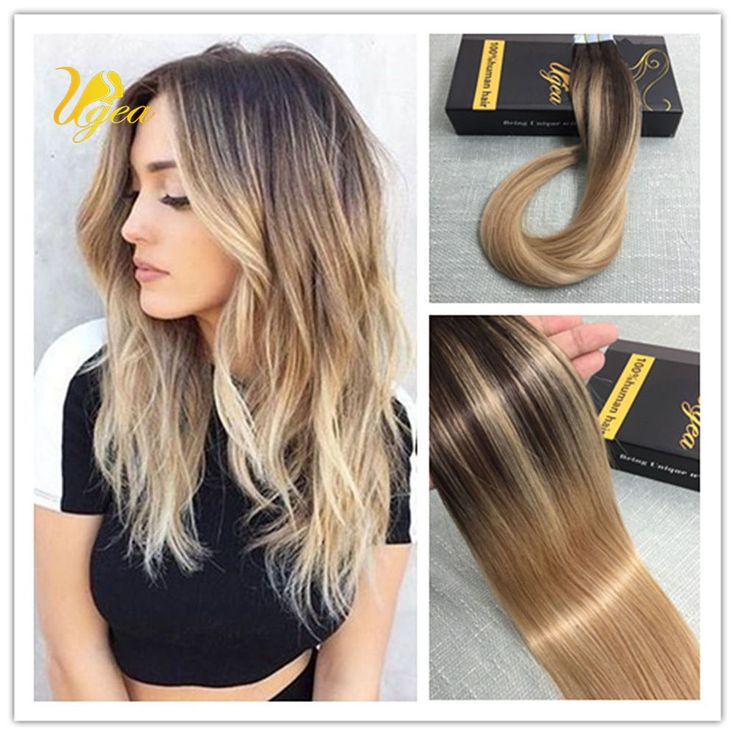 Best 25 balayage extensions ideas on pinterest gradient hair balayage ombre multi colored brown mix blonde remy tape in human hair extensions pmusecretfo Image collections