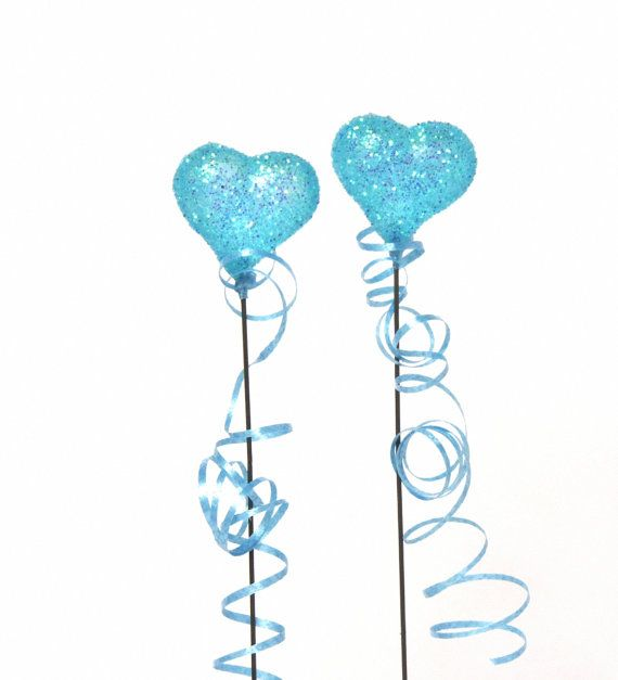 Shimmering Miniature Heart Balloon Turquoise by ForMomentsinTime