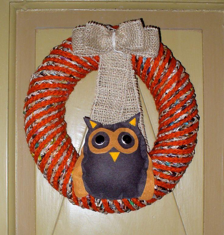 Entry door Halloween wreath
