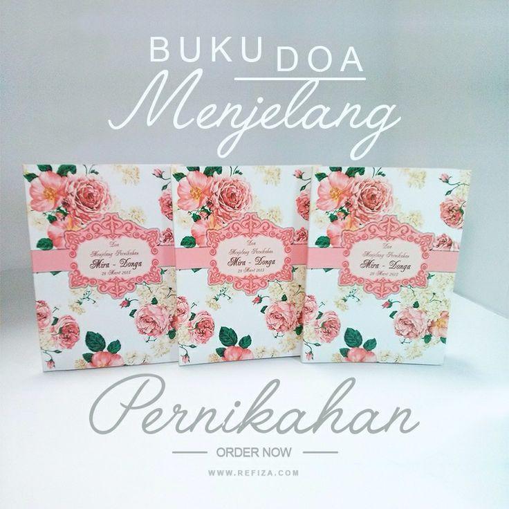 Buku doa menjelang pernikahan full custom desain. Desain cover bisa disesuaikan dengan keinginan atau tema acara