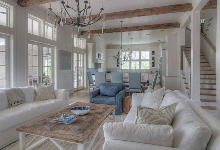 Delightful Beach Cottage Design Beachcottagedesign Coastal Living Rooms Blue Living Room Decor Beach House Interior