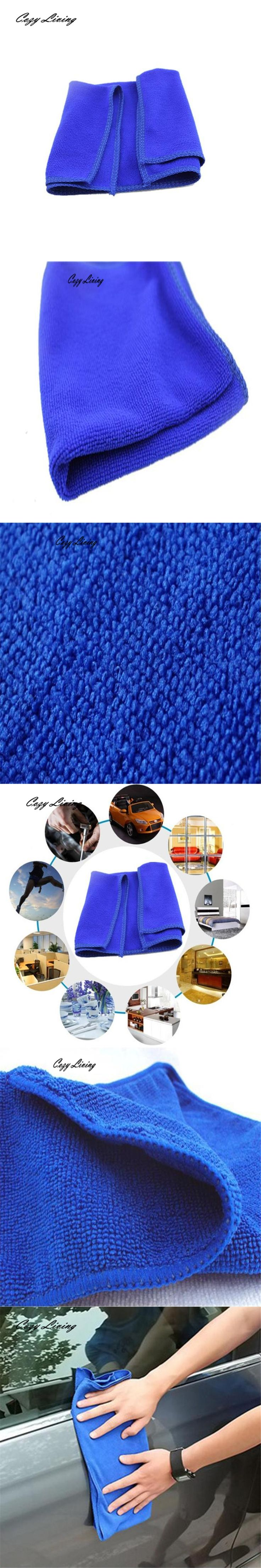 Microfiber Cleaning Cloth 2/5/10 PCS Soft Towel Kitchen Wash Auto Car Home Cleaning Wash Clean Cloth Blue Wholesale JA4