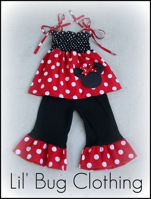 Custom Boutique Clothing Red and White Minnie by LilBugsClothing, $39.99
