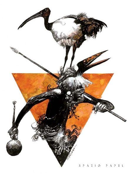 Sergio Toppi - Il danzatore Comic Art