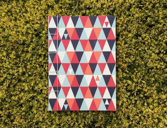 Japanese Bound A6 Notebook 'Macros' geometric by TellThemStories
