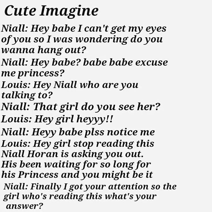 one direction isn t an inspiration Niall imagine (requested) today was the day you have been waiting for niall is finally getting a day off so you two can be with each other niall promised he had to tell you something really.