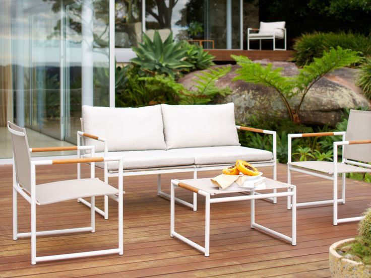 Eco Outdoor complete Tully range in Basics outdoor fabric. Outdoor furniture | Patio furniture | Outdoor dining | Teak outdoor | Outdoor design | Outdoor style | Outdoor luxury | Designer outdoor furniture | Outdoor design inspiration | Pool side furniture | Outdoor ideas | Luxury homes
