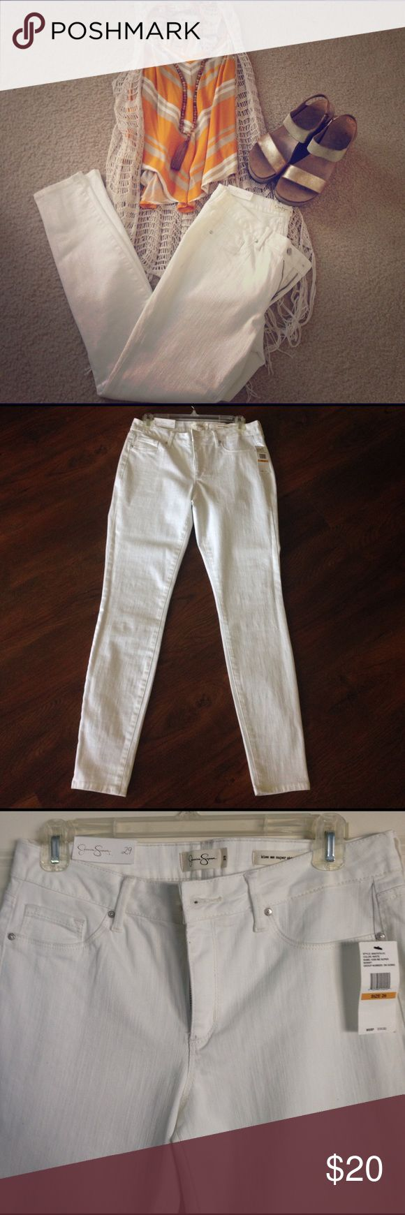 Jessica Simpson Jeans White skinny leg Jessica Simpson Jeans. Brand new. Love them but they do not fit. Jessica Simpson Jeans Skinny